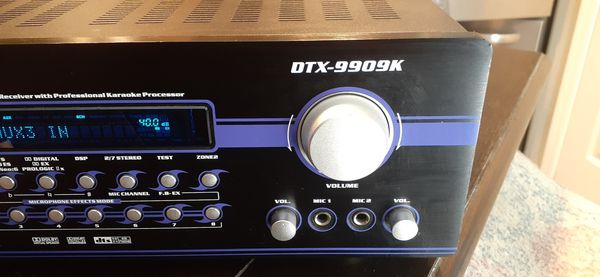 VocoPro DTX-9909K 700W MAX 7.1 Surround Sound Receiver with Professional Vocal DSP Processing $100 FIRM