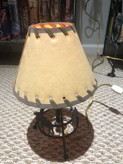 """Vintage Wooden Covered Wagon (18"""") and Lamp (11"""") for Sale in Bethesda,  MD"""
