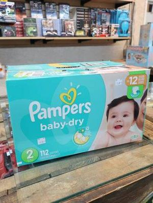 Pampers Size 2 Baby Dry Diapers 112 Count for Sale in Mesa, AZ