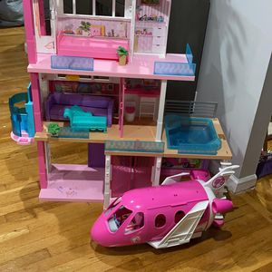 Barbie Dream House Includes Barbie Plane for Sale in Fairview, NJ