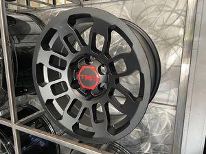 17x8 6x139 etc TRD pro Tacoma 4runner wheels satin black rim wheel tire shop for Sale in Tempe, AZ