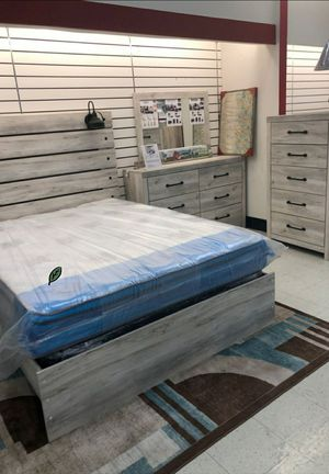 $39 Down - FREE Delivery 🍃 Best PRİCE🍃  [SPECIAL] Cambeck Whitewash Panel Bedroom Set 372 for Sale in Houston, TX