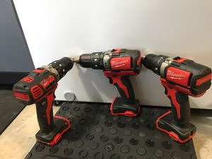 Milwaukee drills. Tool only. $60 each, or 150 for all for Sale in Valrico, FL