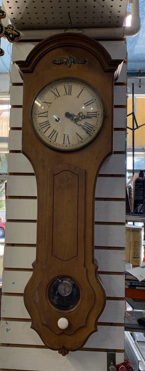 Antique Vintage Wooden Wall Clock for Sale in Los Angeles, CA