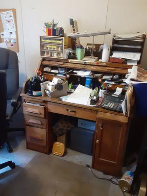 Roll top desk solid wood antique for Sale in LAUREL PARK, WV