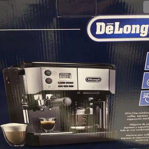 DeLongui All In One Combination Espresso/Latte Maker & 10 Cup Pot for Sale in Irvine, CA