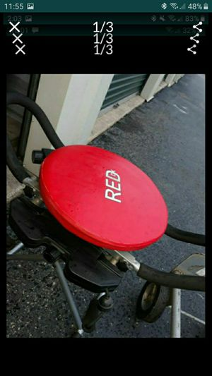 RED EXERCISE CHAIR. USED A FEW TIMES. for Sale in Romeoville, IL