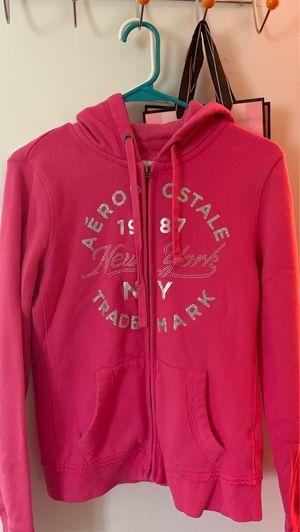 Aeropostale New York Pink Glitter Hoodie Zip-Up Jacket Size Medium for Sale in Manassas, VA