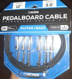 Pedalboard cable-Guitar/Bass for Sale in Porter Ranch, CA
