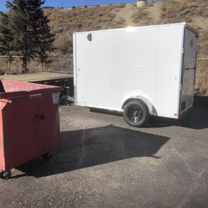 New 2021 5x10+v-nose R&M Enclosed Cargo Trailer for Sale in Aurora, CO