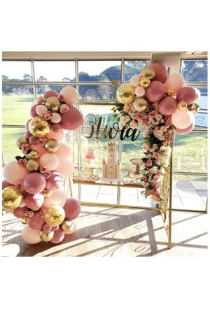 Gold, Pink, Gold Confetti Balloon Garland for Sale in Fayetteville, GA