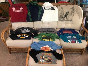 BOYS SIZE 7 LONG SLEEVED SHIRTS, NIKE, OLD NAVY, JUMPING BEANS 12 TOTAL for Sale in Indianapolis, IN