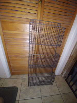Large file wall mount metal rack for Sale in Fresno, CA