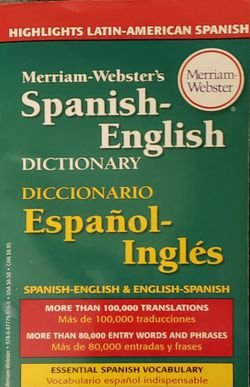 Merriam Webster's Spanish-English Dictionary for Sale in North Brunswick Township,  NJ
