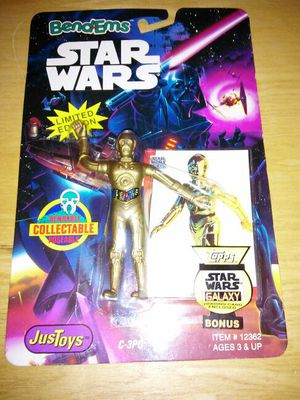 * BendEms STAR WARS C-3PO FIGURE LIMITED EDITION TOPPS GALAXY TRADING CARD BONUS # 12362 JUSTOYS 1993 for Sale in Hyattsville, MD