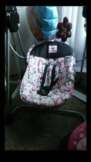 Minnie Mouse baby swing for Sale in Denver, CO