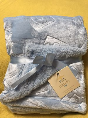 Blue ABC Luxury Sherpa Baby Blanket for Sale in Sioux Falls, SD