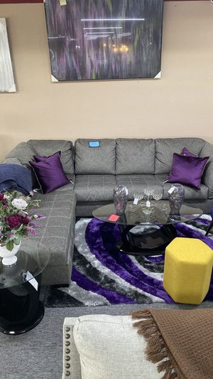 New Grey Left Chaise Sectional Finance Available NO Down 7SN for Sale in Euless, TX