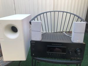 Bose acoustimass 5 series 3, speaker sistem with Sony receiver for Sale in Sunnyvale, CA