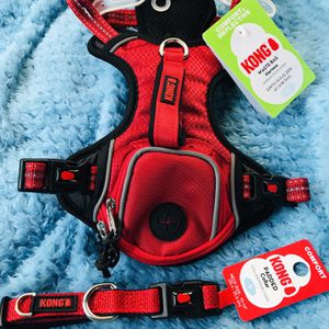 Small Red Kong Backpack Harness + Small Red Kong Dog Collar for Sale in El Cajon, CA