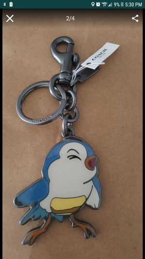 Disney x Coach Snow White BlueBird Baby Bird Bag Charm Keychain Key Fob for Sale in Haines City, FL