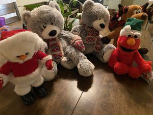 Various Christmas stuffed animals for Sale in Riverside, CA
