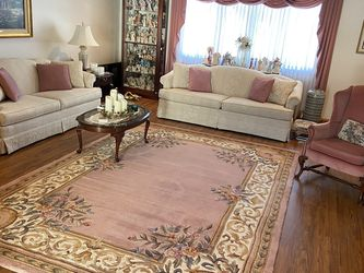 Couch and Loveseat Set with Chair, Area Rug And Curtains for Sale in Dunlevy,  PA