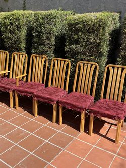 Real Wood Vintage Dining Chairs Set for Sale in Pasadena,  CA