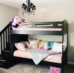 Twin Over Twin Bunk Bed & Chandelier for Sale in New Port Richey,  FL