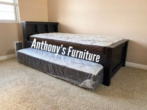 Twin bed & twin roll out mattress for Sale in South Gate, CA