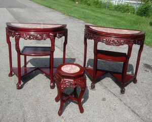 Antique Chinese Rosewood Hand-carved tables and stool for Sale in Columbus, OH