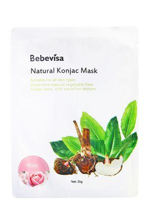 Bebevisa Vegan Konjac Whitening Sheet Mask Pure Konjac/Rose Konjac (1 Sheet Mask) for Sale in Vista, CA
