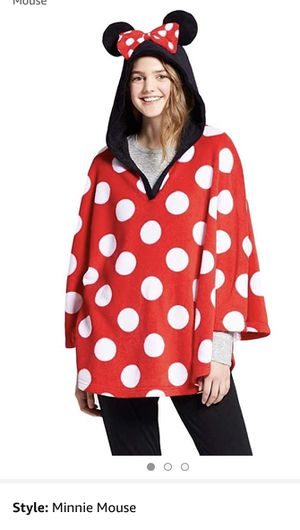 Disney Minnie Mouse Blanket Cape Poncho Hoodie Ears Bow for Sale in Salinas, CA