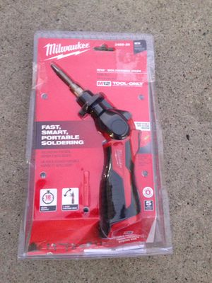 Milwaukee 12v soldering iron for Sale in Los Angeles, CA