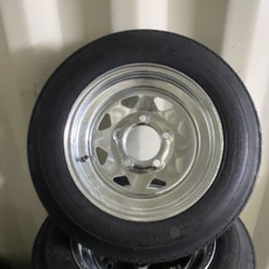 New 12inch trailer tire and galvanized rim, 4.80-12. $60/each. for Sale in Fort Lauderdale, FL