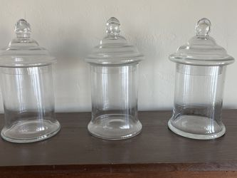 3 Glass Apothecary Jars for Sale in West Linn,  OR