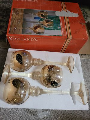 3 Hand Painted Glass Candle Holders for Sale in Fredericksburg, VA