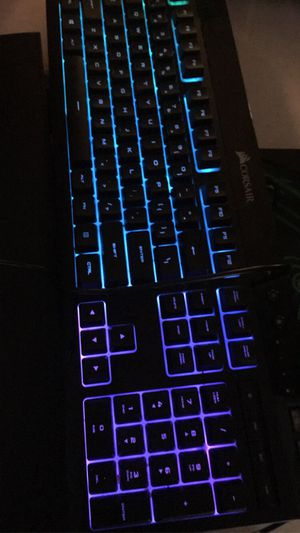Light up gaming keyboard and mouse with mouse pad looking for $55 or best offer for Sale in Riverton, WY