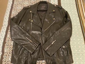 Faux Leather Forever 21 Motorcycle Jacket (XL) for Sale in Marietta, GA