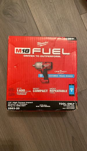 Milwaukee M18 FUEL ONE-KEY 18-Volt Lithium-Ion Brushless Cordless 1/2 in. Impact Wrench with Friction Ring (Tool-Only) for Sale in Fort Lauderdale, FL