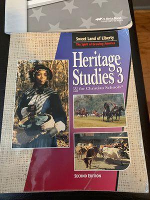 American Heritage studies 3 book and solutions for Sale in Crozet, VA