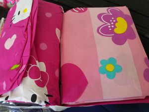 Hello kitty lamp, Hello kitty (new) & peppa pig(used) bed set for Sale in Franklin, TN