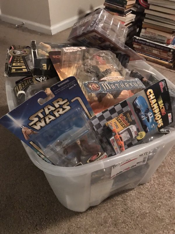 Tub full of 90's Unopen toys and figures !!!