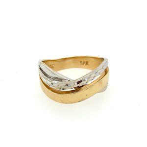14k two tone ring for Sale in Alexandria, VA