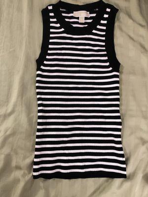 Michael Kors Knit Black/white Striped Tank M for Sale in Sunnyvale, CA