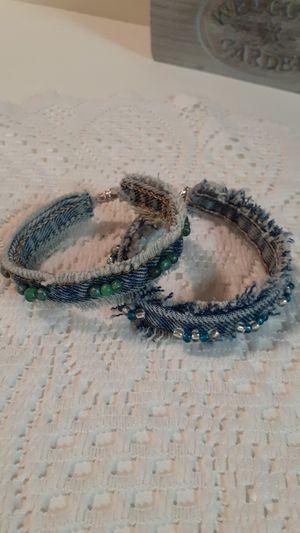 Denim bracelet for Sale in Wolf Summit, WV