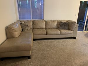 Leather sectional in good condition. Clean. Pet free. Moving and don't need it anymore. for Sale in Vancouver, WA