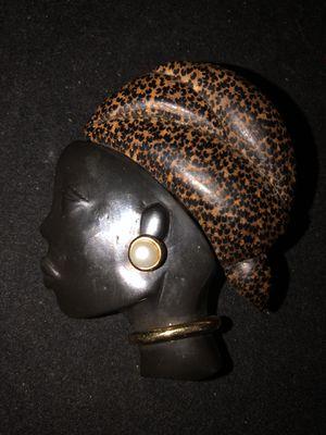 L'oree Du Bois Blackamoor Face Figural Wood brooch for Sale in Washington, DC
