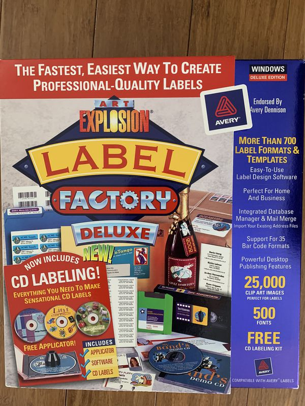 NIB Nova Art Explosion Millions Professional Labels Minutes Label Factory Brand New
