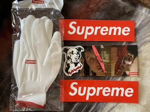 Supreme gloves with stickers for Sale in Victorville, CA